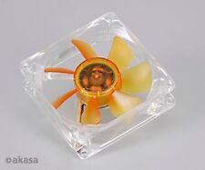 Akasa Ultra Quiet 80mm Amber Case Fan 2 Ball Bearing