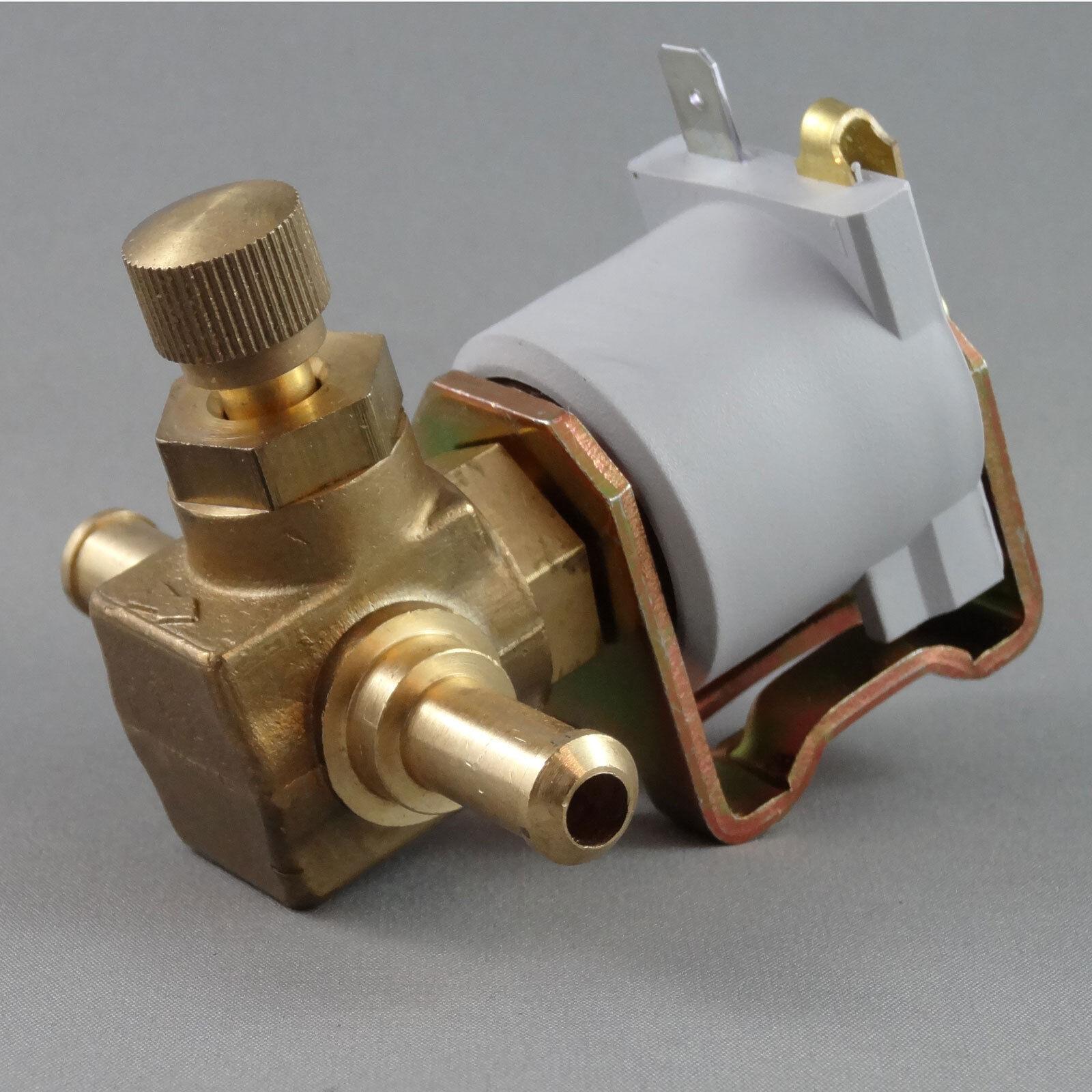 Inline Petrol Fuel Lock Off Solenoid Valve With Manual Tap