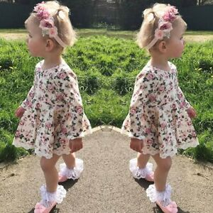 dd71f7794 Toddler Baby Girls Dress Long Sleeve Princess Party Pageant Dresses ...