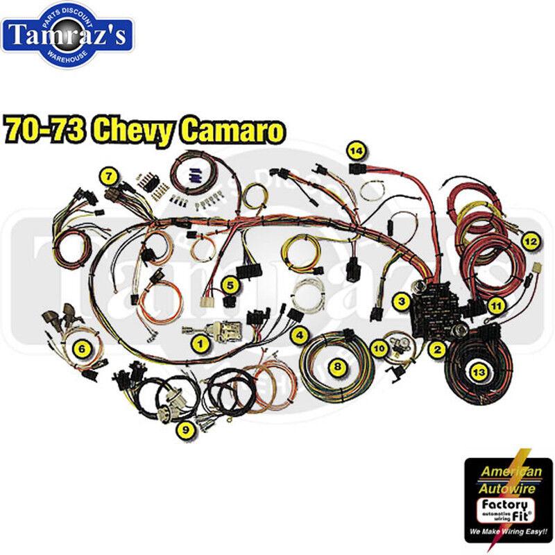 70-73 camaro classic update series complete body & interior wiring ...  ebay