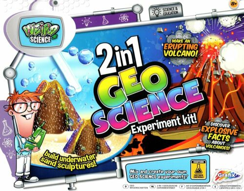 Grafix 2 en 1 Geo Ciencia Mágica Arena /& volcán experimento Kit educativo