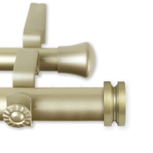 """28-240 inch *Double Curtain Rod* 1/"""" OD #10-50 choose from 4 colors and 5 sizes"""