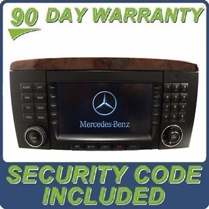 06 07 mercedes benz r class command radio cd player lcd for Mercedes benz cd player