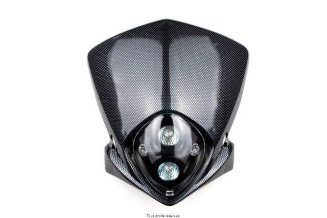 Panel Faro Moto Enduro Cross Motard Tm 12V 20W Carbon Look Blitz