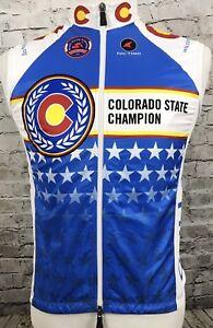 Pactimo Colorado State Champion Cyclisme Vélo Débardeur Jersey Taille S-afficher Le Titre D'origine