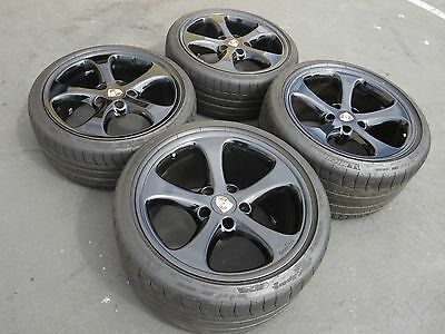 "19"" Black Porsche 996TT turbo Techart Formula Speedline C4S 996 wheels"