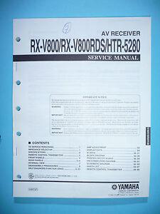 service manual yamaha rx v800 htr 5280 original ebay rh ebay com Yamaha RX V10.6.5 Yamaha RX V5.65 Manual PDF