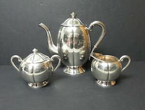 Image Is Loading Vintage 3 Piece Sanborn Mexico Sterling Silver Coffee