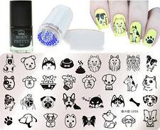 4Pcs/Set Animal Theme Nail Art Stamp Plate Stamping Polish & Stamper Scraper Kit