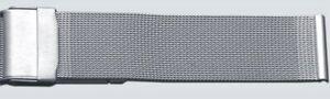 Uhrenarmband-Milanaise-Band-Meshband-Silber-Edelstahl-Sicherheitsschliesse-16-mm
