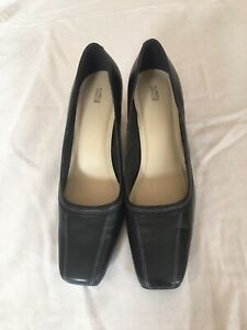 Marks-amp-Spencer-Women-Black-Leather-Shoes-Size-5-5-39-S55