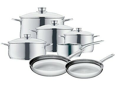 WMF Diadem Plus 11-Piece Cookware Set 18/10 Stainless Steel