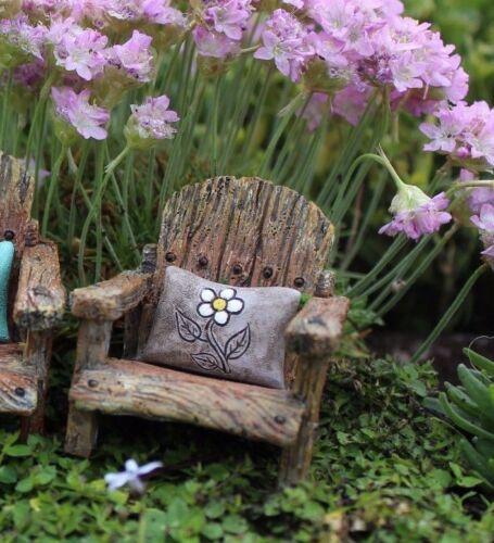 Fairy Chair w Attached Flower Pillow 3 colors WS 1585 Miniature Fairy Garden