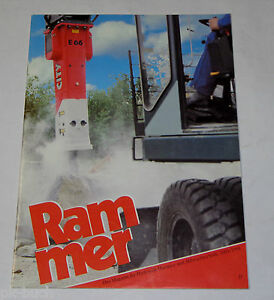 Magazine/Brochure Rammer Hydraulic - Hammers And Abbruchtechnik, 1993/1994