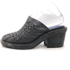 Jeffrey Campbell Black Woven Leather