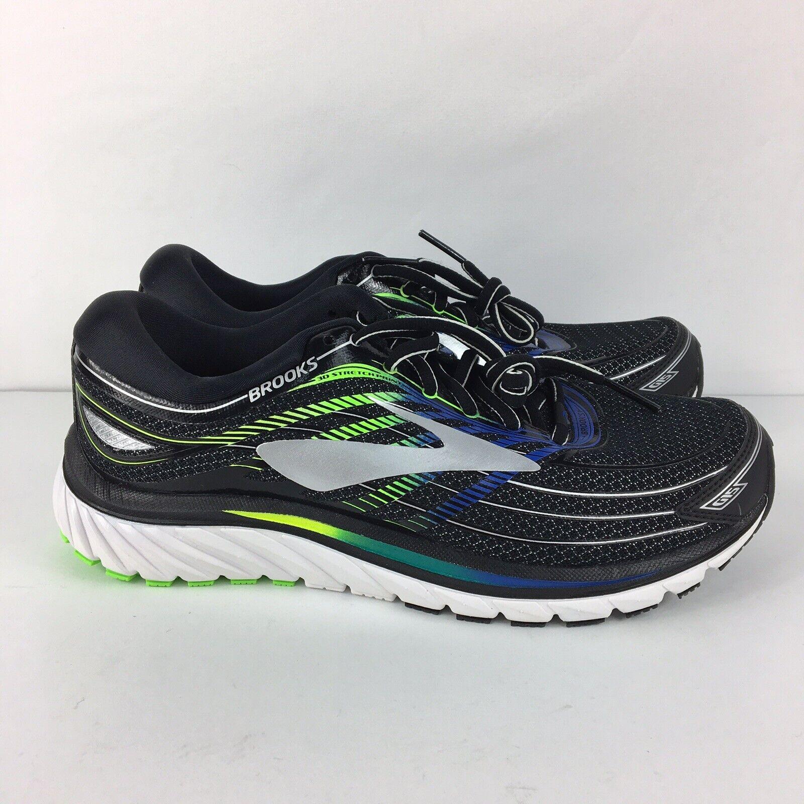 Brooks Glycerin 15 pour Homme électrique noire Brooks Bleu Vert Chaussures De Course grand 8.5
