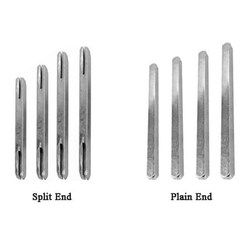 Steel Door Spindle Plain or Split from 60mm to 140mm for Handles and UPVC Window