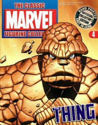 Classic Marvel Figurine Collection # 4 The Thing Magazine