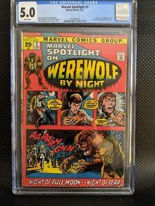 Marvel Spotlight #2 (1972) CGC 5.5 WP - 1st app & origin of Werewolf by Night