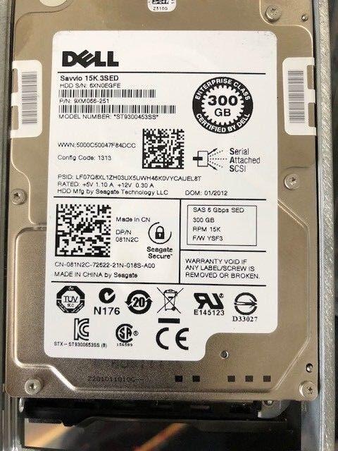 "DISCO DURO SAS DELL ST9300453SS 15k 300GB 2.5"" CON CADDIE"