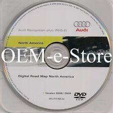2008 2009 2010 Audi R8 Coupe TT Quattro RNS-E Navigation OEM DVD Map U.S Canada