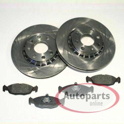 Bremsscheiben Bremsen Bremsbeläge für vorne die Vorderachse Opel Tigra A
