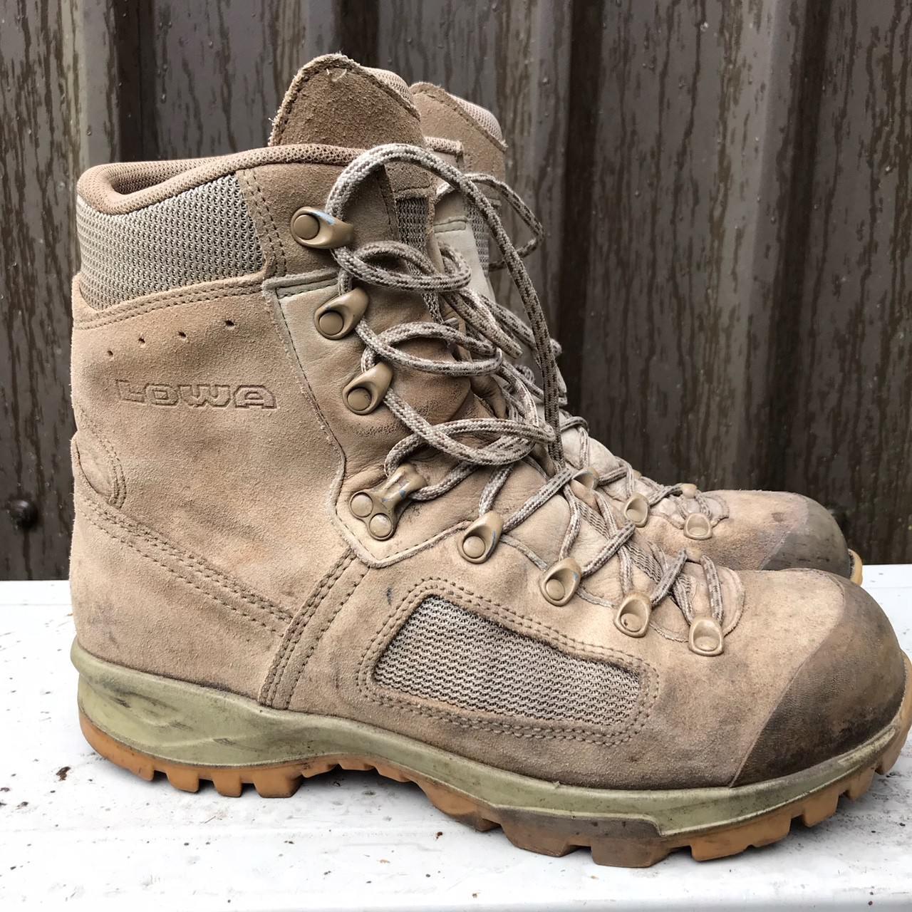 British Army Surplus G1 Lowa Desierto Elite bota, Bronceado Cuero De Gamuza, bota de combate, 002