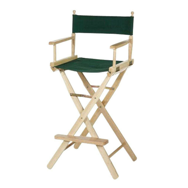 Stupendous Casual Home 30 In Directors Chair Bar Stool W Armrests Natural Solid Wood Frame Unemploymentrelief Wooden Chair Designs For Living Room Unemploymentrelieforg