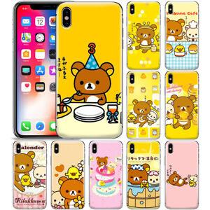 Cartoon-Cute-Rilakkuma-Bear-Pattern-Phone-Case-Cover-For-iPhone-Samsung-and-LG
