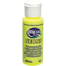 Deco Art 409479 Americana Neons Fluorescent Acrylic Paint 2Oz-Scorching Yellow