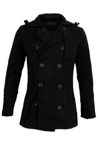 Maenner schlank stilvollen Trenchcoat Winter lange Jacke zweireihig Mantel Sc RX