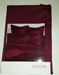 olivier desforges housse de couette baptiste 140x200 cm coton peigne bordeaux ebay. Black Bedroom Furniture Sets. Home Design Ideas