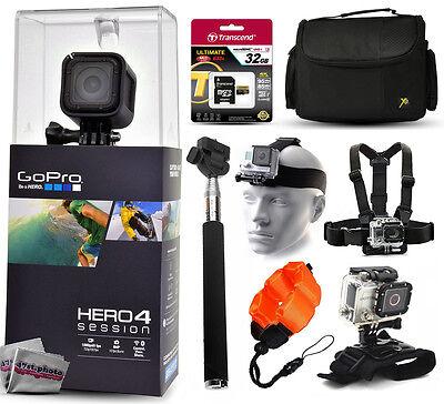 GoPro HERO4 Hero 4 Session + 32GB, Case, Selfie Stick, 3 Mounts, Float Strap
