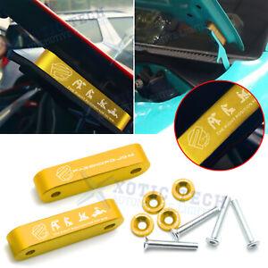 Gold Aluminum Alloy Billet Car Hood Spacer Riser Kit Xotic Tech for Honda Civic Acura Integra Hood Vent Spacer Riser Modification Set