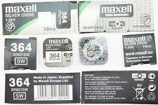 1x Maxell Uhren Batterie 364-621-SR621 SW Knopfzelle Silver Oxide Made in Japan