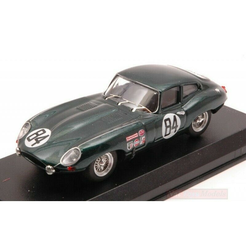 BEST MODEL BT9657 JAGUAR E-TYPE COUPE' N.84 NC SEBRING 1968 RODGERS-ROBSON 1 43