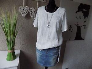 Plissee-Longbluse-offwithe-Gr-46-Longshirt-Tunika-Bluse-Vivance-NEU-Shirt-34a
