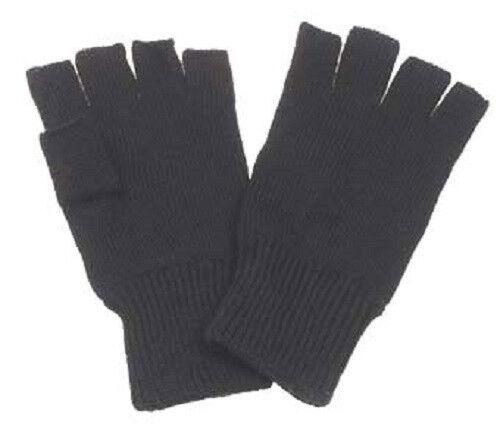 Handschuhe Fingerhandschuhe Strick ohne Finger schwarz Größe S M L XL NEU !