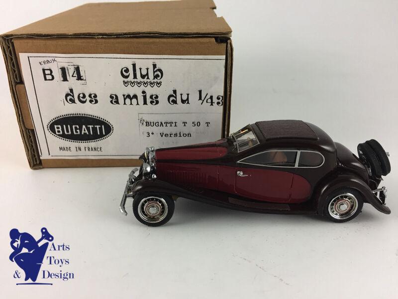 CLUB AMIS DU 1 43 B14 BUGATTI T 50 T 3° VERSION braun BORDEAUX NO MCM