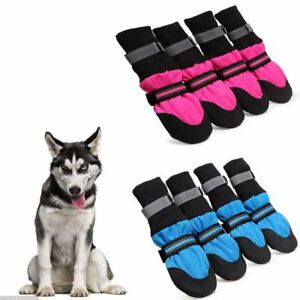 e3873136816 Details about 4PCS Dog Shoes Large Boots Paw Protector Booties For Walking  Safe Anti-slip USA
