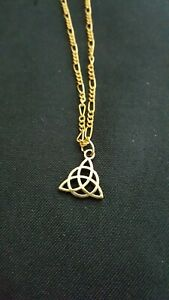 Gold-Tone-Triquetra-necklace-19-inch