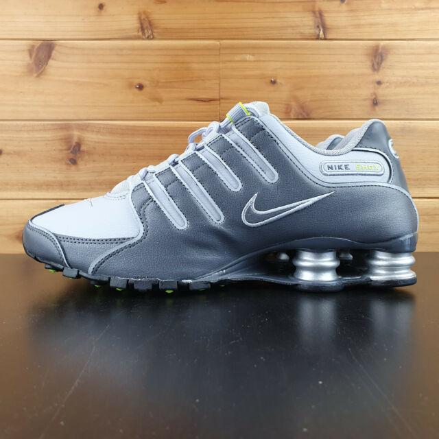 Nike Shox Nz Mens 378341 014 Grey Blue Running Shoes