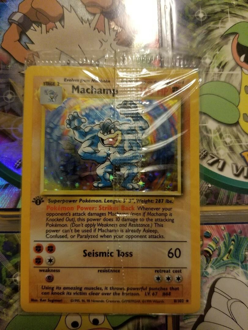 Pokemon 1st Edition Holographic Holographic Holographic Machomp Mint Condition 323fbf