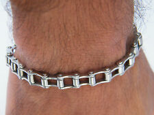 BIKER GOTHIC STAINLESS STEEL 316L BIKE CHAIN BRACELET