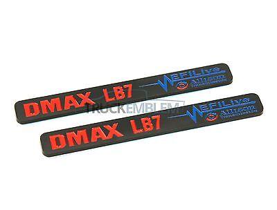 """2 New Chrome /& White Duramax Diesel /""""DMAX LLY/"""" Allison EFILIVE 2500 3500 Badges"""