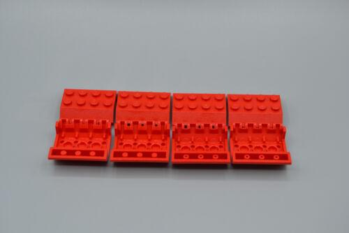 LEGO 8 x Dach Doppelschrägstein  45° 4x4x1 rotred roof tile 4857