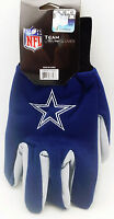 Dallas Cowboys Gloves Adult Embroidered 2-tone Utility