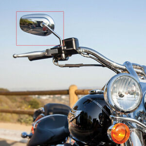 Chrome Motorcycle Rearview Mirrors For Harley Davidson Fatboy Road King Softail Ebay