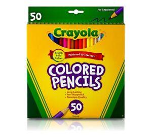 Crayola-long-couleur-crayons-crayon-50-Couleurs-Vives-68-4050