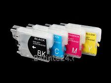 Brother 4 befüllbare cartucho DCP j125 j315w j515w lc985 LC 985 lc-985 MFC tinta